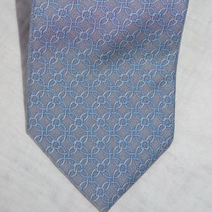 Brooks Brothers 346 Silk NeckTie Gray Silver Blue